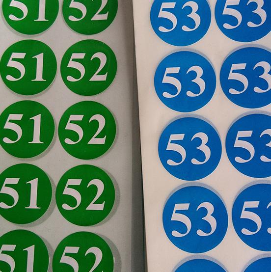 1-12彩色月份貼紙 數字標貼